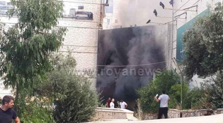 Major fire breaks out in commercial building in Amman