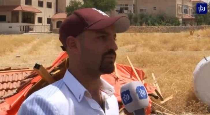 Saad Riyalat, brother of Yazeed Riyalat, owner of the hut