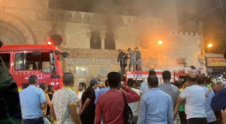 Minor fire breaks out in Al-Husseini Mosque in Downtown Amman