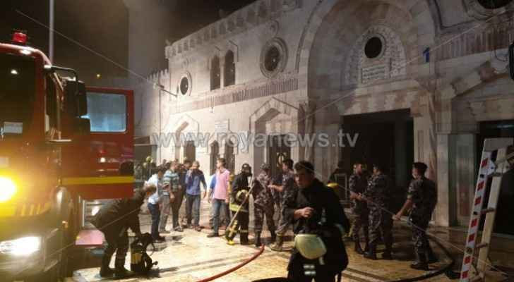 Awqaf Ministry issues statement on Al-Husseini Mosque blaze