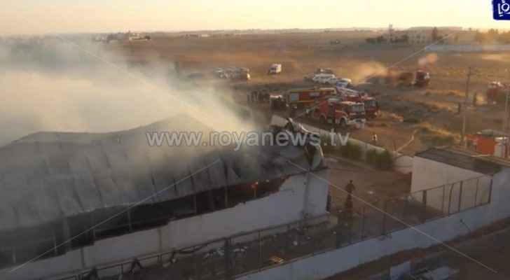Major fire engulfs furniture factory in southern Amman
