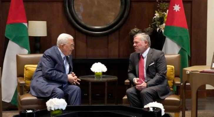 King holds talks with Palestinian president