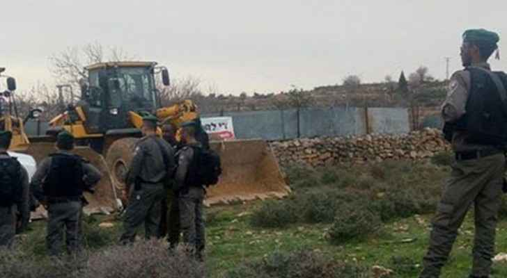 Israel destroys land, water wells in south of West Bank