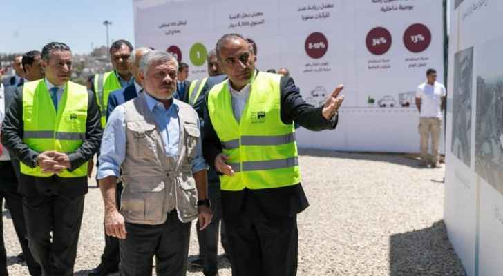 King visits construction site of main Bus Rapid Transit station in Sweileh
