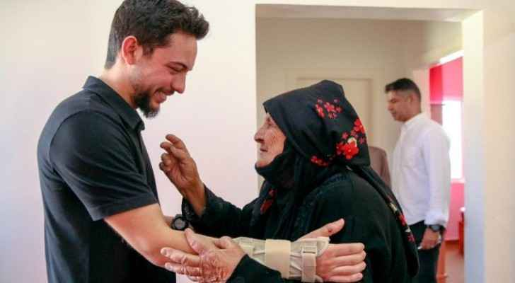 Crown Prince accompanies elderly woman to her new home he instructed to be built
