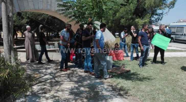 Unemployed young people of Karak organize protest in Amman