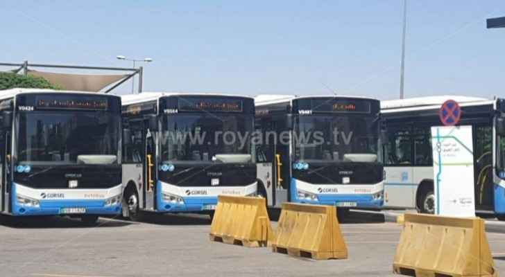 Buses operating through 'Amman Bus' to operate until 2 am as of tomorrow