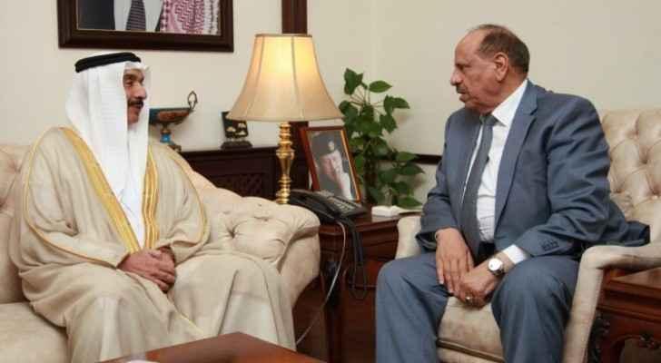 Interior Minister Salameh Hammad and Bahraini Ambassador in Amman