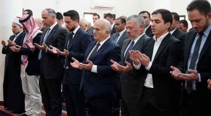 King attends funeral of Princess Dina bint Abdul-Hamid