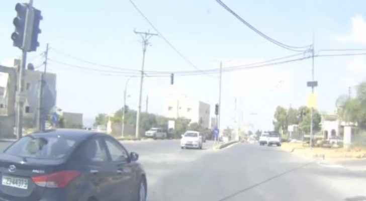 Video: Vehicle driver caught driving in opposite direction in Irbid