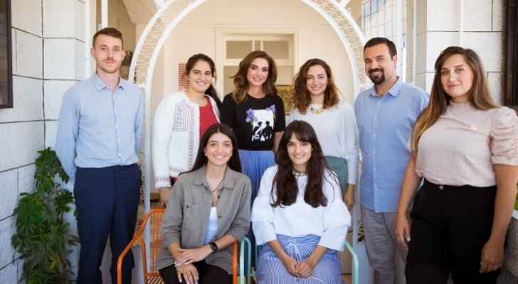 Queen Rania visits Amman Design Week Offices in run-up to event's upcoming third edition