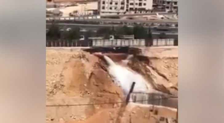 Video: Main water pipe breaks on Airport road