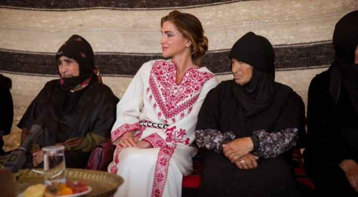 Queen visits Umm Ar-Rasas district, pledges support for projects run by local women