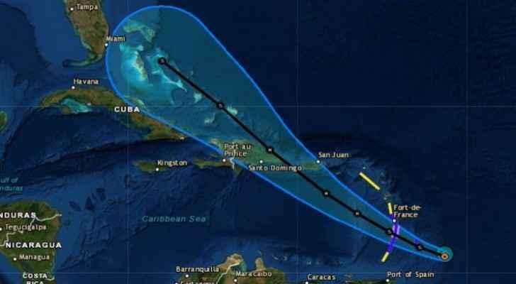 Hurricane Dorian track
