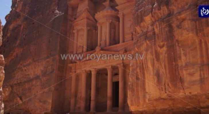 Group of people vandalizes retaining wall in Petra