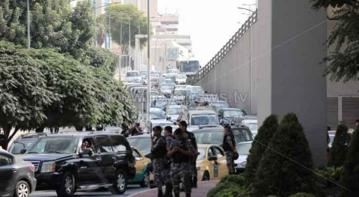 Photos, video: Road closures near 4th circle, heavy traffic jam in Amman streets
