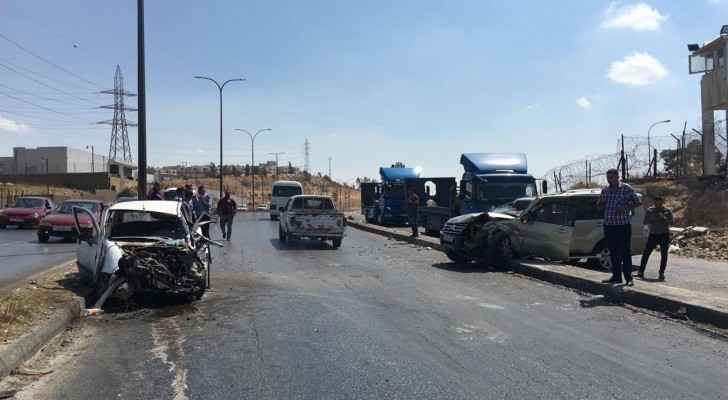 One dead, three injured in two-vehicle collision accident in Zarqa