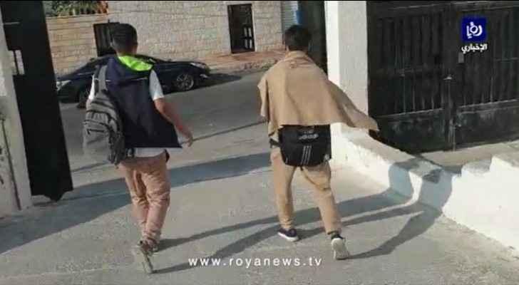 Students seen leaving schools as teachers strike