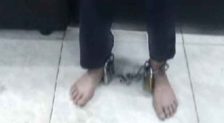 Man puts chains on son's legs in Zarqa