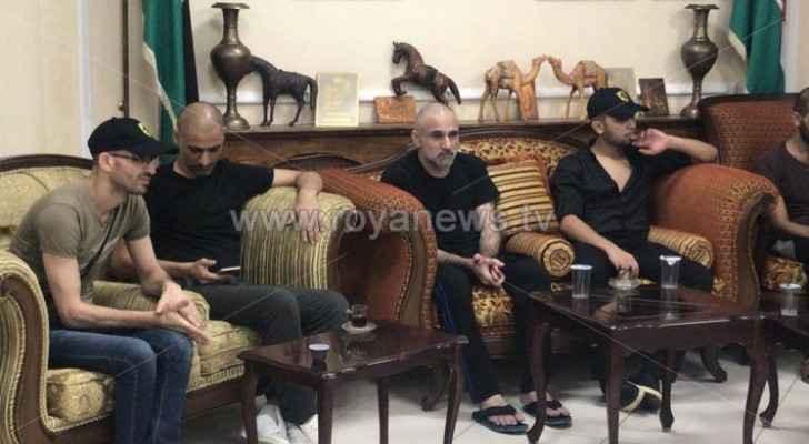 Photos: Five Jordanians released by Syrian authorities arrive in Jordan