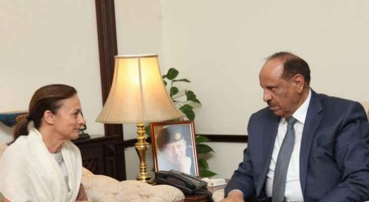 Interior Minister meets UNICEF Jordan's representative