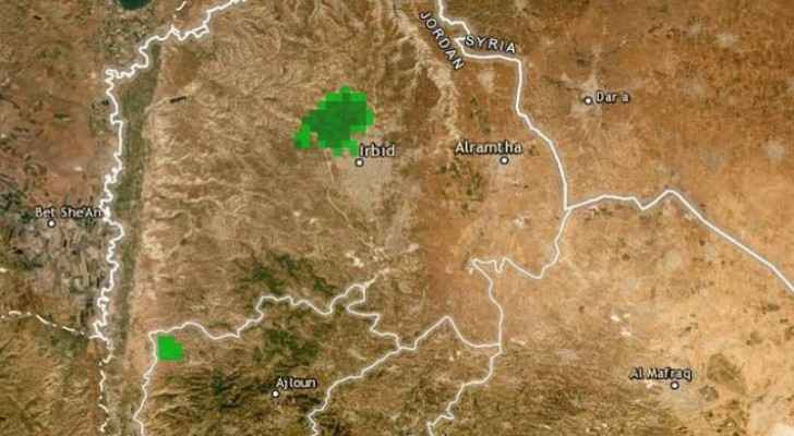 Areas in northern parts of Jordan witness rainfall