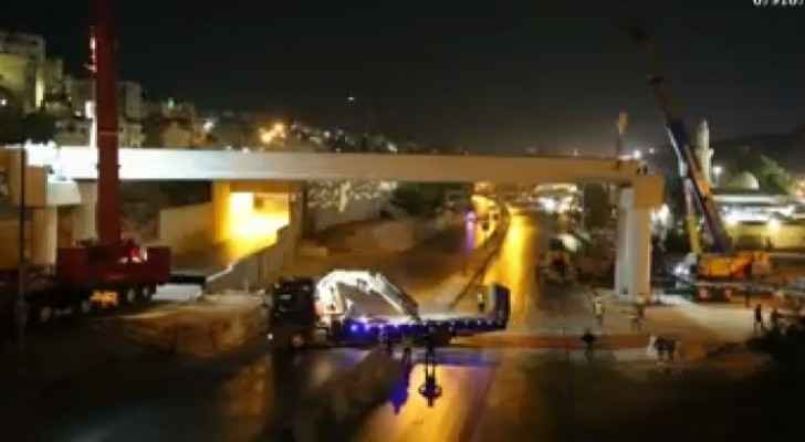 Video: Moment when bridge collapsed in Army Street in Amman