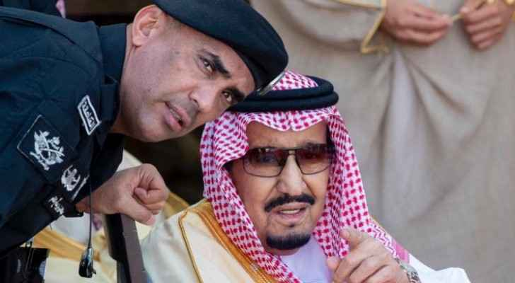 Saudi Arabia's King Salman with his bodyguard