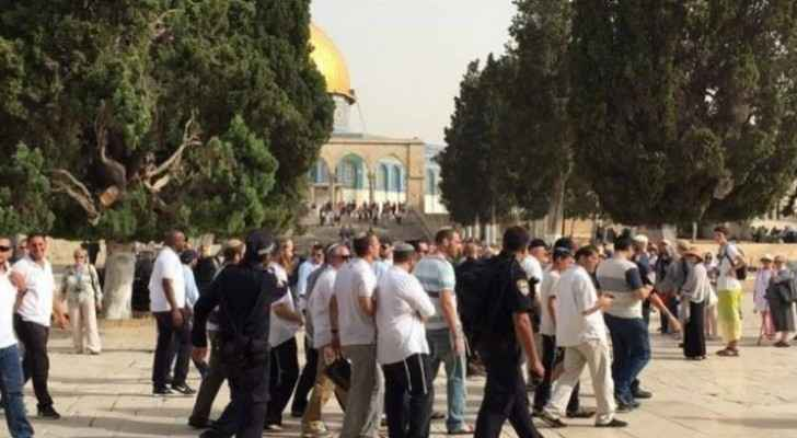 Dozens of extremist settlers storm Al-Aqsa under heavy Israeli police protection
