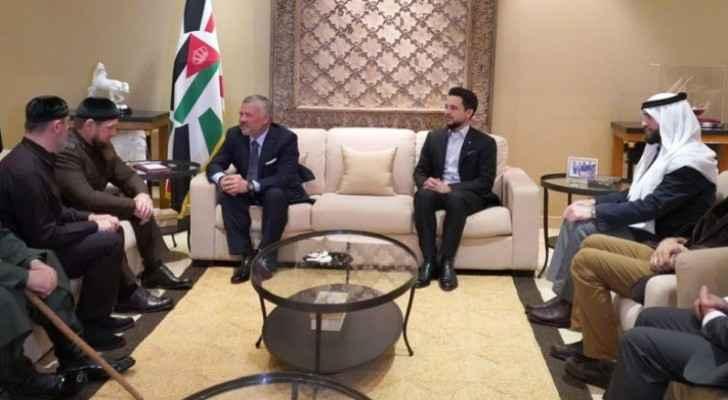 King meets head of Chechen Republic