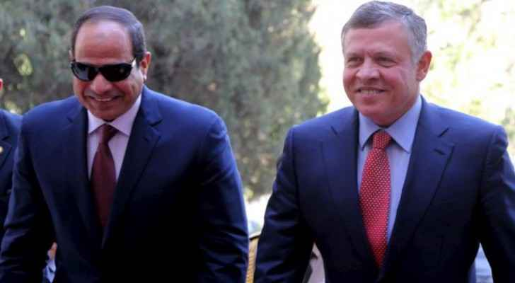 King arrives in Cairo