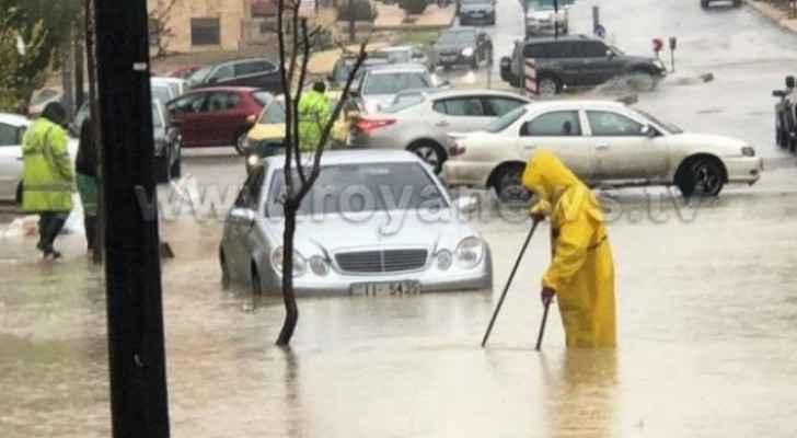 Downtown Amman flashfloods in 2018