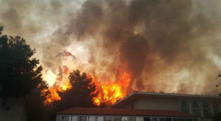 Fierce fires engulf homes in Lebanon