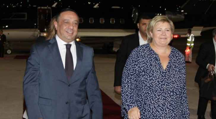 Norwegian PM arrives in Amman