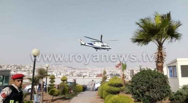 Photos: Two injured in Jerash stabbing incident taken to Hussein Medical City on helicopter