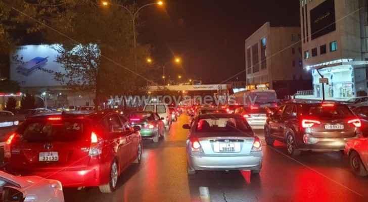 Watch heavy traffic jam in Amman