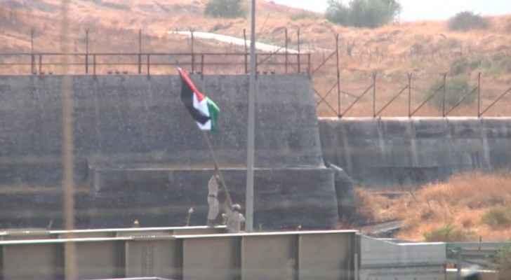Photos: JAF raise Jordanian flag in Al-Baqoura area