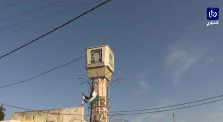 Watch Al-Baqoura town adorned with Jordanian flag