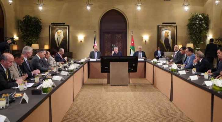 King meets Ajloun development master plan steering committee