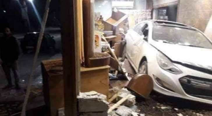 Car crashes into coffee roastery in Irbid