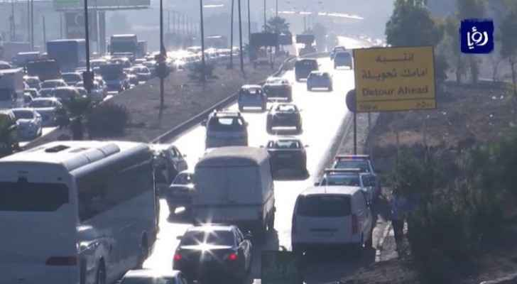 First phase of detours on Al Hizam road between Amman, Zarqa postponed