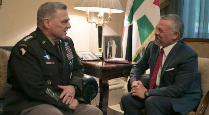 King meets US chairman of joint chiefs of staff