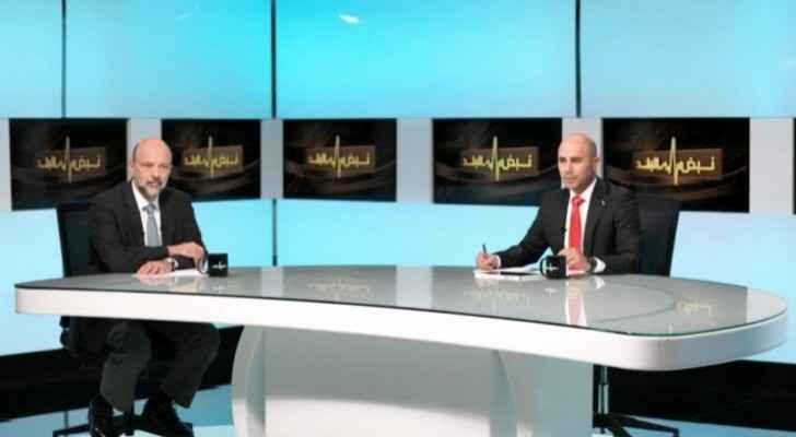 PM Razzaz in special interview on Roya's 'Nabd Al Balad' program