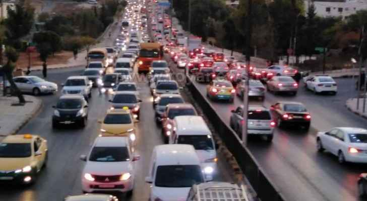 Photos: Amman witnessing heavy traffic jam