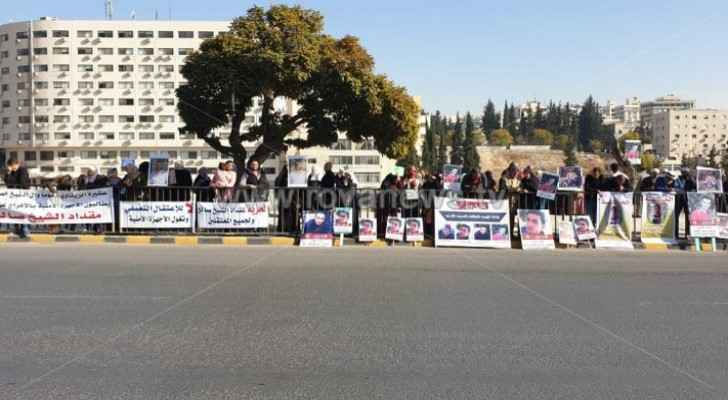Family members of 'prisoners of conscience' organize protest in front of Parliament building