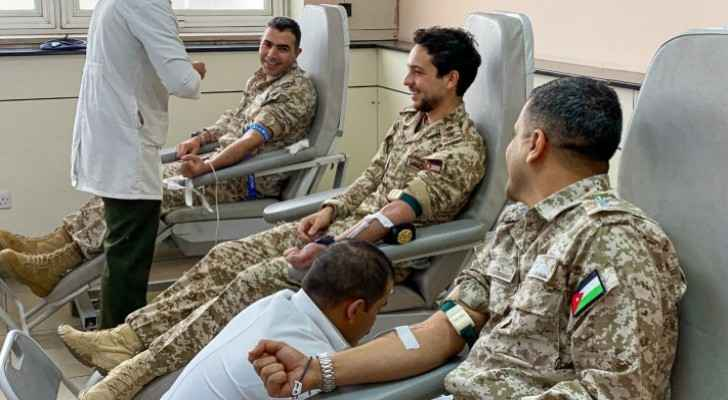Watch Crown Prince at King Hussein Medical Center with members of Royal Air Force