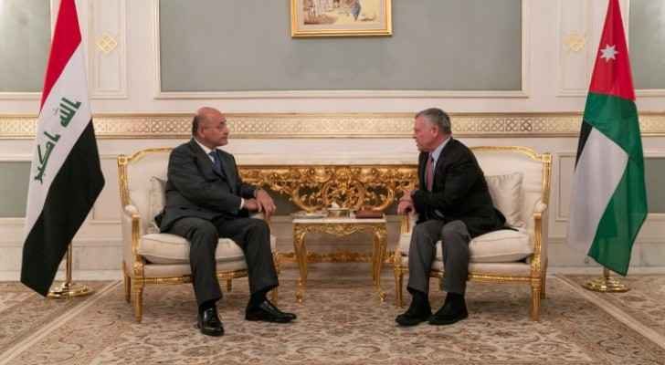 King stresses Jordan's firm commitment to supporting Iraq, its people