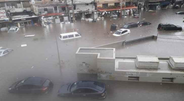 Torrential rain causes flashfloods in Lebanon