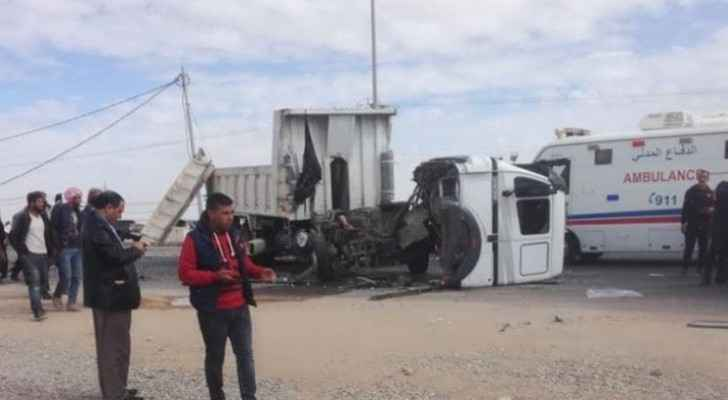 Photos, video: 68 injured in road accident on Desert Highway