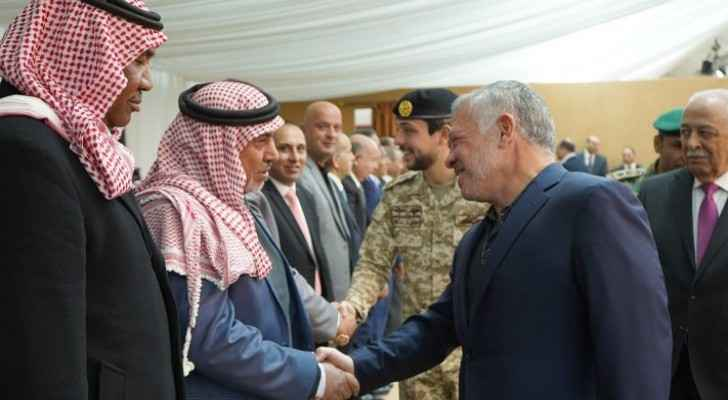 King meets representatives, leading figures from Amman-based Balqa tribes